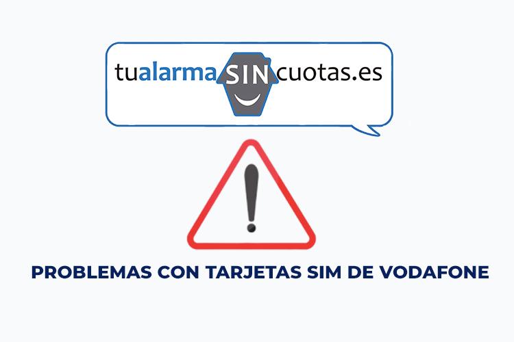 Reportados problemas con tarjetas SIM de Vodafone