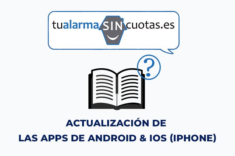 Actualización de las Apps de Android & IOS (Iphone)