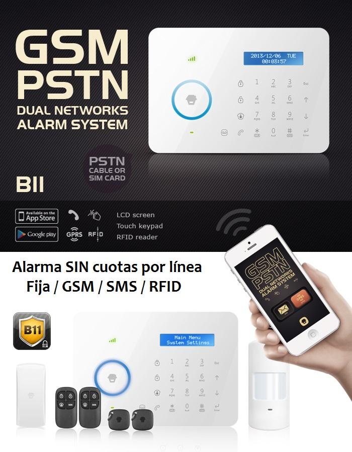 Novedad 2015: tu alarma SIN cuotas TASC-B11 DUAL (línea Fija+GSM+GPRS)