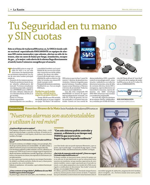 """Entrevista del día 10/Junio/2013 en """"Soy Online"""" en La Razón"""