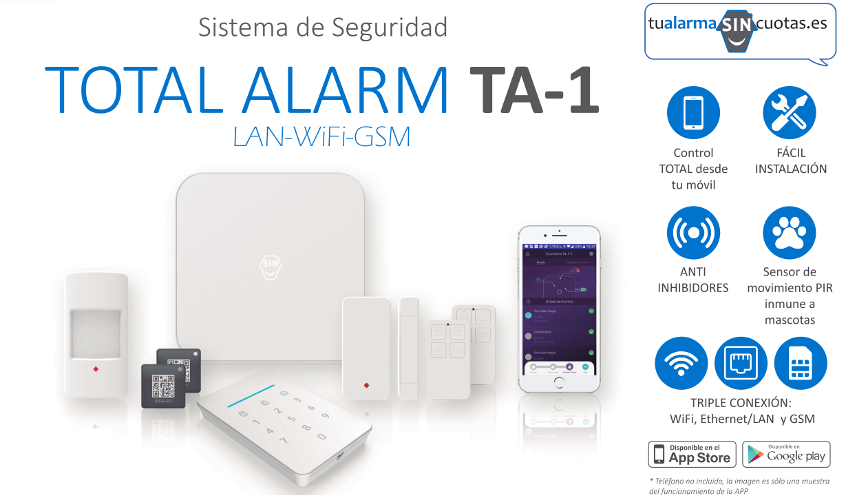 YA a la venta NUESTRA Total Alarm TA-1: la alarma SIN límites