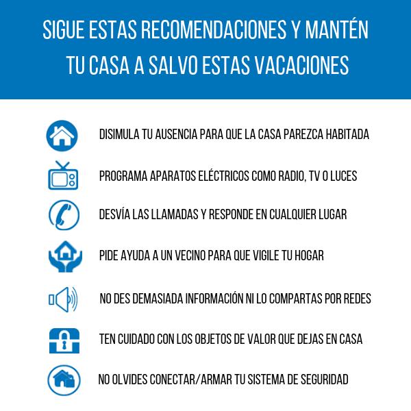 proteger casa semana santa, seguridad casa semana santa, consejos seguridad vacaciones