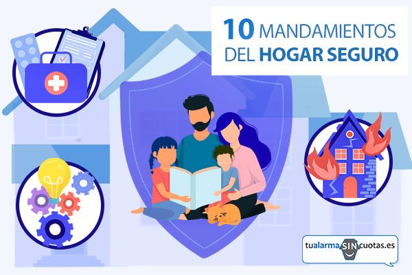 10 mandamientos del hogar seguro.