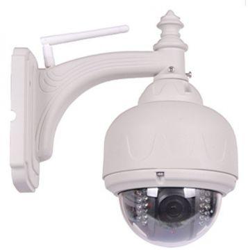Cámara IP Wifi MEGAPIXEL con visión nocturna para EXTERIOR PnP y PT