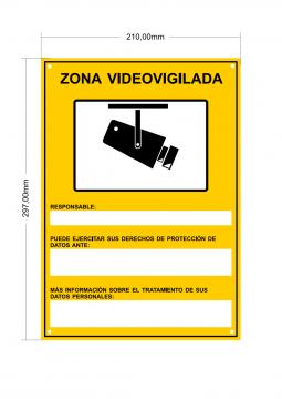 Nuevo cartel videogigilancia RGPD con medidas