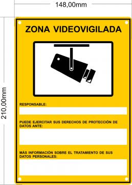 Nuevo cartel videogigilancia RGPD