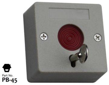 Botón pulsador de pánico (SOS) CABLEADO y con llave