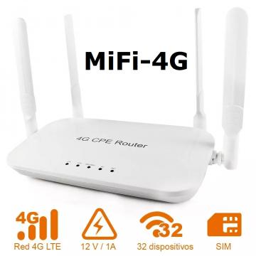 Wifi Móvil 4G/3G (para tarjeta SIM)