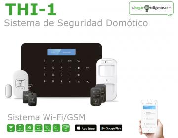 Pack de Alarma SIN cuotas Domótica THI-1 (WiFi + GSM) + 2 detectores extra PIR-THI