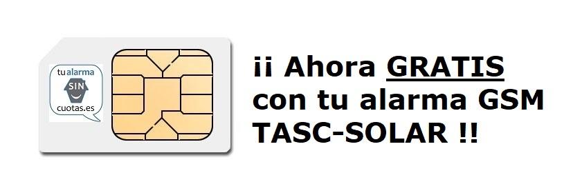 Tarjeta SIM gratuita OPCIONAL con tu alarma TASC-SOLAR
