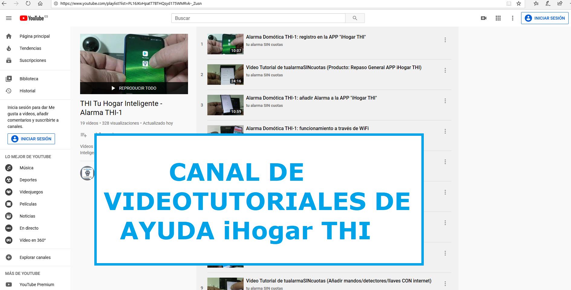 Canal Videotutoriales IHogar THI