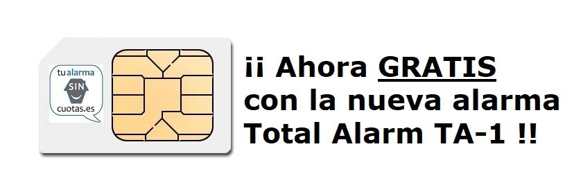 Tarjeta SIM gratuita OPCIONAL con tu alarma TA-1