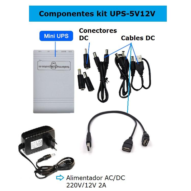 Componentes UPS-5V12V
