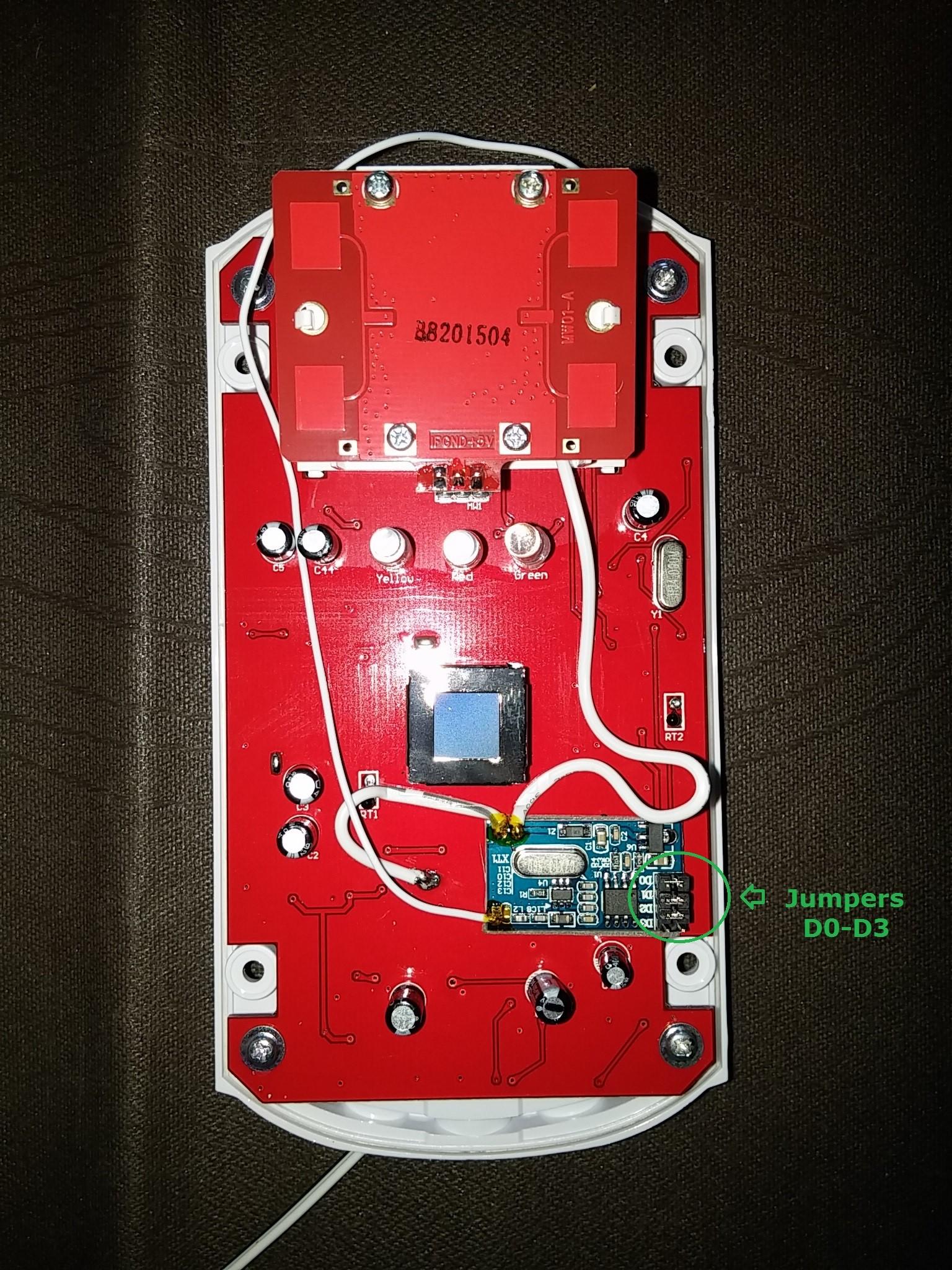 detector de movimiento triple tecnologia exterior