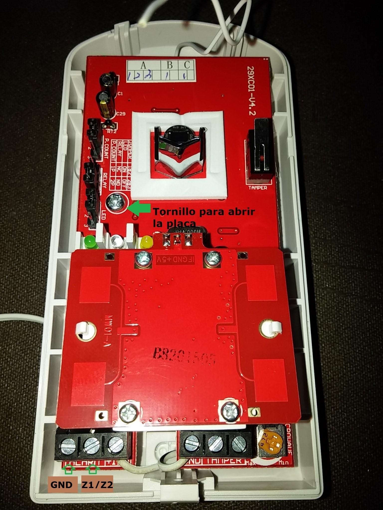 detector de movimiento triple tecnologia inalambrico