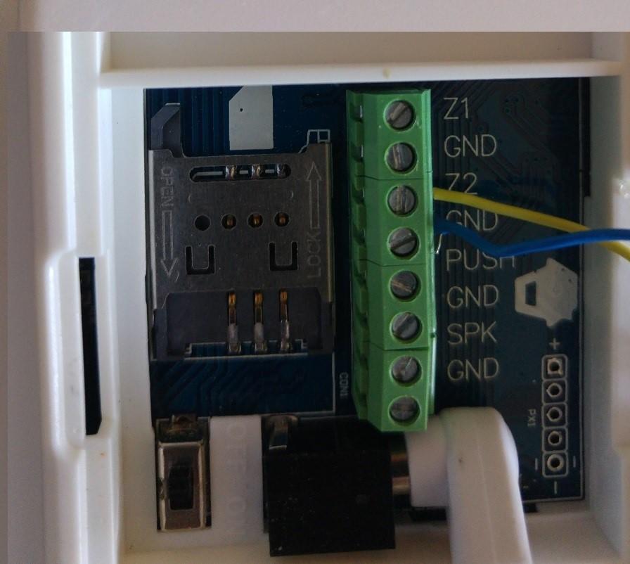 detector de movimiento cableado